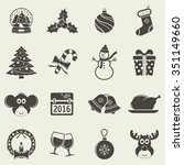 christmas icons | Shutterstock . vector #351149660