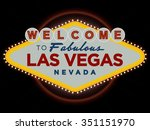 las vegas nevada usa greeting... | Shutterstock .eps vector #351151970
