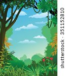 jungle background | Shutterstock .eps vector #351152810