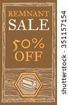 ups remnant sale  wood texture. ... | Shutterstock .eps vector #351157154