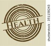 health rubber stamp | Shutterstock .eps vector #351158243