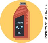 motor oil circle icon with... | Shutterstock .eps vector #351162413