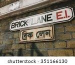 brick lane | Shutterstock . vector #351166130