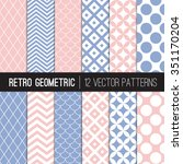 Pink Blue Retro Geometric...