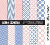 Pink Blue Retro Geometric...