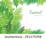 vector tropical jungle... | Shutterstock .eps vector #351175358