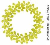 laurel wreath decorative vector ... | Shutterstock .eps vector #351179339