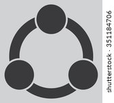 collaboration vector icon | Shutterstock .eps vector #351184706