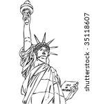 statueof liberty vector   Shutterstock .eps vector #35118607
