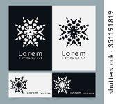 black and white symbols ... | Shutterstock .eps vector #351191819