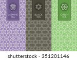 vector set of templates... | Shutterstock .eps vector #351201146