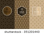 vector set of templates... | Shutterstock .eps vector #351201443