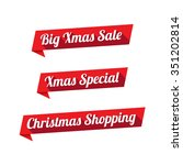xmas special offer long shadow... | Shutterstock .eps vector #351202814