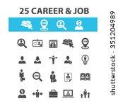 career development  icons ... | Shutterstock .eps vector #351204989