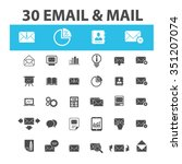 email  message  mail  icons ... | Shutterstock .eps vector #351207074