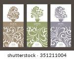 vector set of templates... | Shutterstock .eps vector #351211004