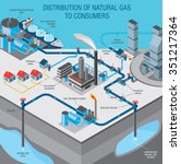 gas industry info graphic... | Shutterstock .eps vector #351217364
