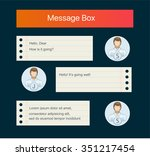 vector chat interface. sms... | Shutterstock .eps vector #351217454