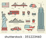 country usa travel vacation... | Shutterstock .eps vector #351223460