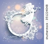 christmas background with... | Shutterstock .eps vector #351224048