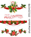 christmas decorations. holiday... | Shutterstock .eps vector #351224198
