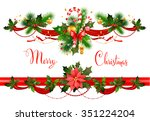 decorations with spruce tree... | Shutterstock .eps vector #351224204