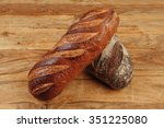 different rye and white flour... | Shutterstock . vector #351225080