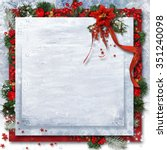 christmas background with... | Shutterstock . vector #351240098