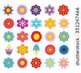 flower vector illustration   Shutterstock .eps vector #351247466