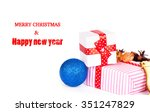 gift boxes isolated on white... | Shutterstock . vector #351247829