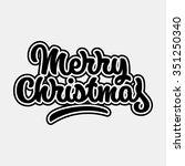 merry christmas  xmas badge... | Shutterstock .eps vector #351250340