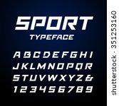 sport font. vector alphabet... | Shutterstock .eps vector #351253160