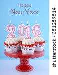 happy new year cupcakes with... | Shutterstock . vector #351259514