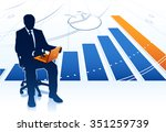businessman with laptop | Shutterstock .eps vector #351259739