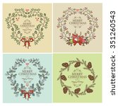 vector set  christmas  wreath . ...   Shutterstock .eps vector #351260543