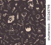 seamless pattern vintage... | Shutterstock .eps vector #351263798
