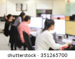 blurred group people working at ... | Shutterstock . vector #351265700