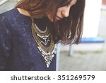 stylish and fashionable... | Shutterstock . vector #351269579