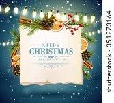 christmas greeting card with
