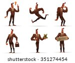 set of images of cartoon strong ... | Shutterstock .eps vector #351274454