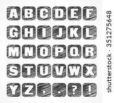 alphabet icons  caps sketch... | Shutterstock .eps vector #351275648