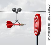 success hitting target as a... | Shutterstock . vector #351282620