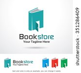 book store logo template design ... | Shutterstock .eps vector #351286409