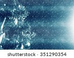 christmas  decorated tree... | Shutterstock . vector #351290354