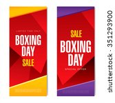 boxing day sale. vector... | Shutterstock .eps vector #351293900