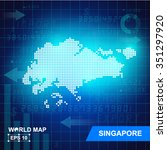 map of singapore abstract...   Shutterstock .eps vector #351297920