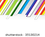 follow up rainbow background... | Shutterstock .eps vector #35130214