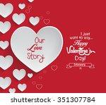 valentine's day background | Shutterstock .eps vector #351307784