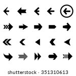back and next arrows | Shutterstock . vector #351310613
