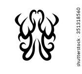 tribal tattoo vector design... | Shutterstock .eps vector #351318560